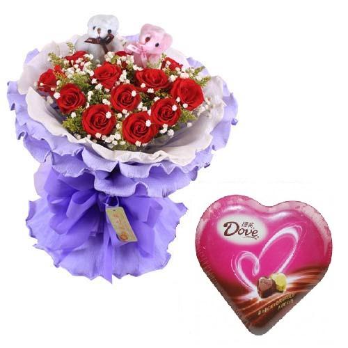 鲜花巧克力组合06